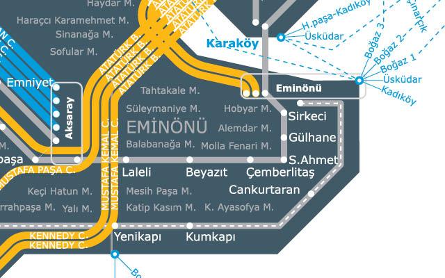 Istanbul Dolmuş Minibüs Haritası