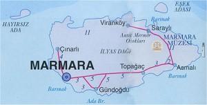 Marmara Adası harita