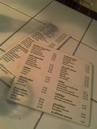 Menü Building Cafe