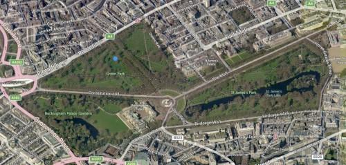 London-running-routes-Green Park & St James Park